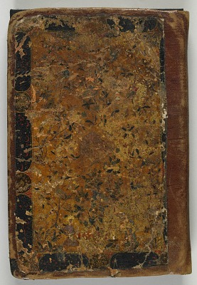 Book cover belonging to S1986.44.1, Silsilat al-dhahab (Chain of gold) by Jami (died 1492)