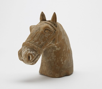 Head of a tomb figure of a horse
