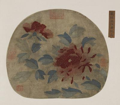 Tapestry: peonies