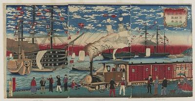 Locomotive Along the Yokohama Waterfront
