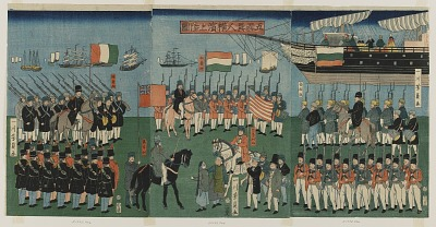 Landing of Foreigners of the Five Nations in Yokohama