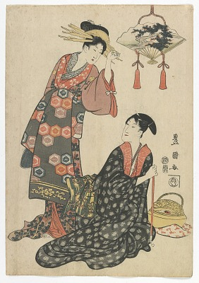 Actor Iwai Hanshiro V with a Courtesan