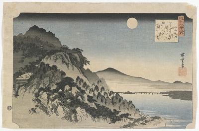 Eight Views of Omi: Autumn Moon at Ishiyama