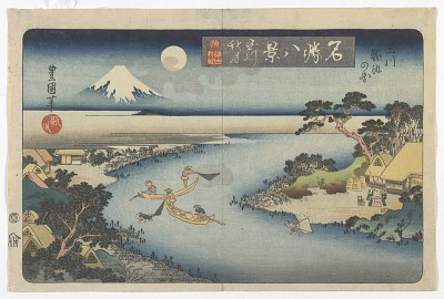 Eight Views of Famous Places: Autumn Moon at the Tama River