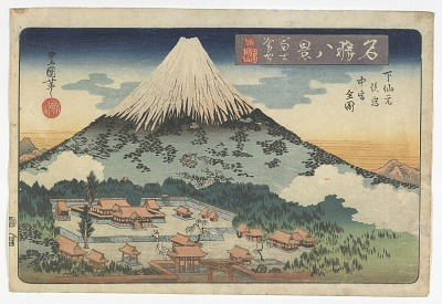 Eight Views of Famous Places: Lingering Snow on Mt. Fuji
