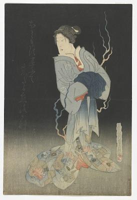 The Actor Onoe Kikugoro III as the Ghost of Yonakiishi