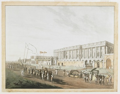 The New Court House and Chandpam Ghaut from the <em>Views of Calcutta<em>