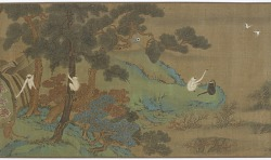Landscape with Gibbons and Cranes
