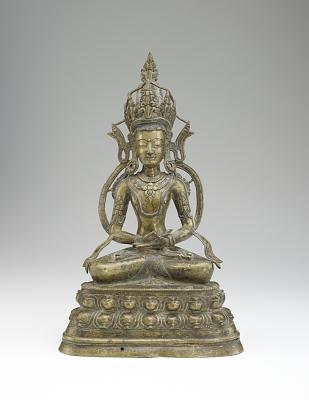 Figure of a seated bodhisattva