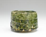 Tea bowl with Oribe glaze
