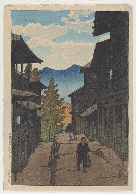 Autumn at the Arayu Hot Spring, Shiobara, from the series Souvenirs of Travels, First Collection
