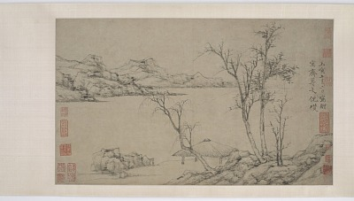 Landscape with Sparse Trees, after Ni Zan
