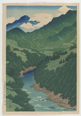 Somegawa river, Kōshū, from the series Souvenirs of Travels, Second Collection