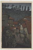 Arifuku hot springs, Iwami, from the series Souvenirs of travels, third collection