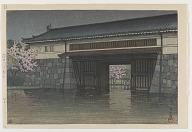 Spring rain at Sakurada gate