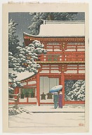 Kasuga shrine in snow, Nara