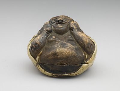 Incense box in the form of seated Hotei