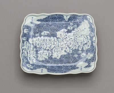 Dish depicting map of Japan