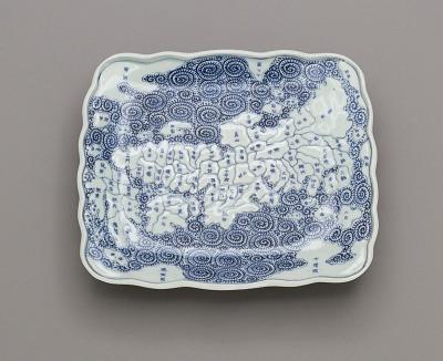 Dish depicting map of Japan