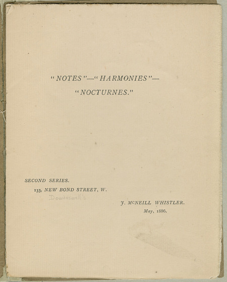 """Notes""—""Harmonies""—""Nocturnes"", Second Series, May 1886"