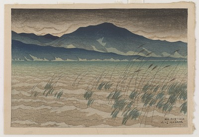 Mount Hira, from the series Eight Views of Omi