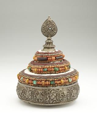 Buddhist cosmos mandala offering