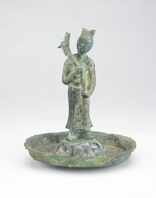 Lamp in the form of a standing figure