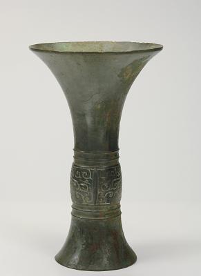 Ritual wine cup (gu) with taotie