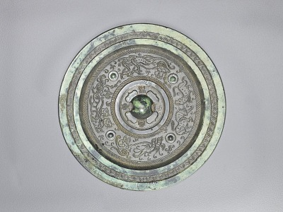 Mirror with mythical birds and animals