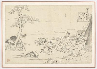 Preparatory drawing for a print in the series <em>Hyakunin isshu uba ge etoki</em>: Kiyohara no Motosuke