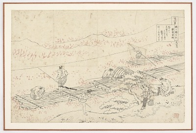 Preparatory drawing for a print in the series <em>Hyakunin isshu uba ge etoki</em>: Noin Hoshi