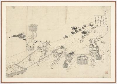 Preparatory drawing for Nijoin no Sanuki from the series One Hundred Poems Explained by the Nurse (Hyakunin isshu uba ga etoki)