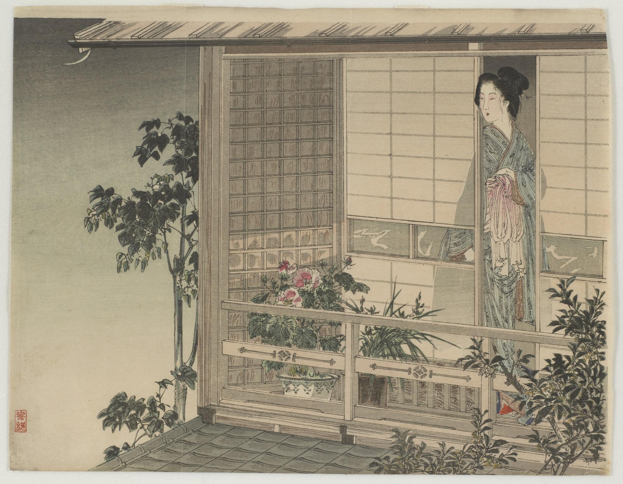 Woman on the veranda