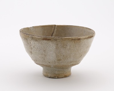 Hagi ware tea bowl, copy of Ido type