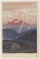 Tsurugizan in the Morning, from the series Twelve Scenes in the Japan Alps