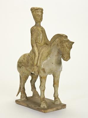 Figure of a woman on horseback