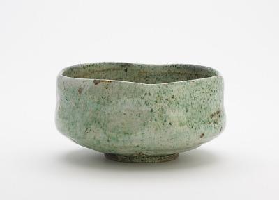 Tea bowl with false Raku seal, unknown Raku ware workshop