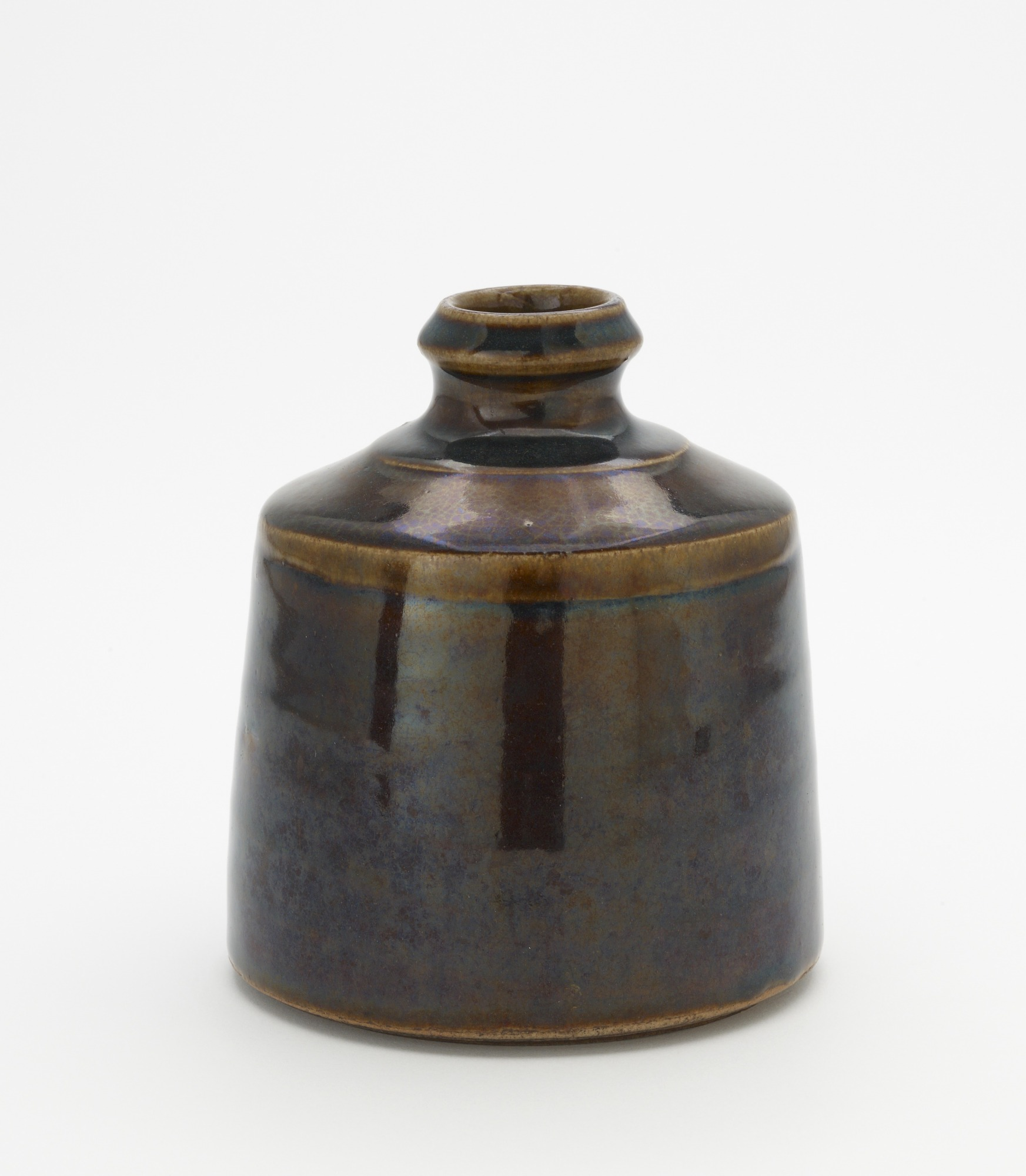 Sake bottle, Seto-related or Kyoto-related ware