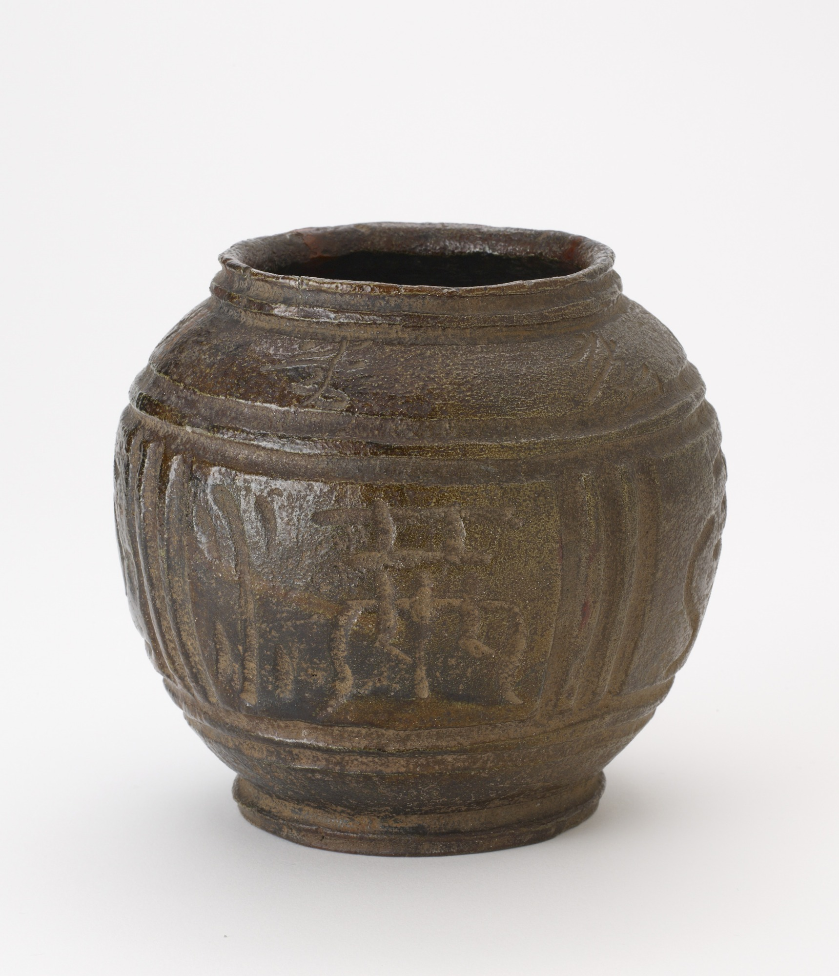 Tea ceremony water jar, unknown Raku ware workshop