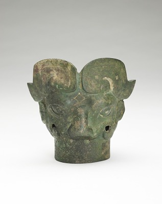 Finial with an animal mask