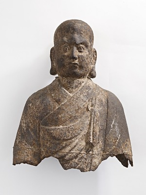 Head and bust of a Luohan (<em>Arhat</em>), fragment
