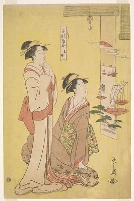 Competition of Sake Cups of Famous Places (<em>Meisho Sakazuki Awase</em>): Takanawa