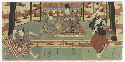 Nakamura Utaemon, Ichikawa Ebijuro, Kataoka Nizaemon, and Ichikawa Ichizo