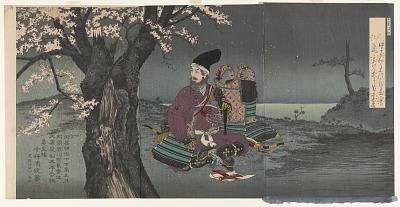 Taira no Tadanori under the cherry tree