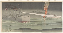 The righteous war to chastize Russia, naval battle at Chemulpo