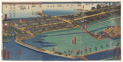 A View Of Honcho, Yokohama Miyasakicho, A Newly Opened Quarter