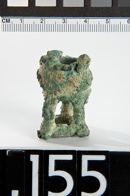 Miniature vessel on tripod (incense burner?)