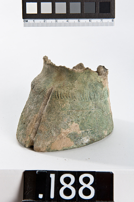 Cloven hoof, fragment from a figure or fitting