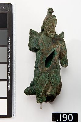 Figure of a winged, bearded deity of Dionysus type, fragment