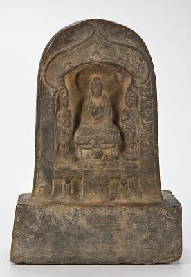 Stele with Buddha and Bodhisattva